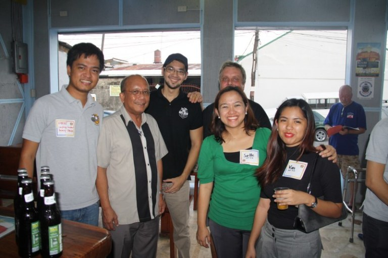 Our friends from the Department of Tourism Region 3 with Robert from the Laughing Carabao Brewery in Tarlac, and Chris from Nipa Brew in Makati and Mike from Pinatubo Craft Brewery