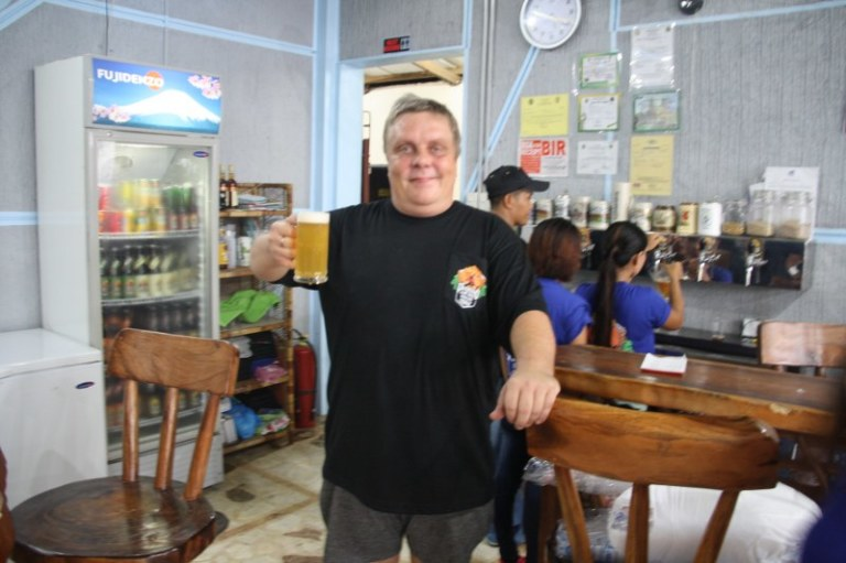Mike the Brewmaster at Pinatubo Craft Beer