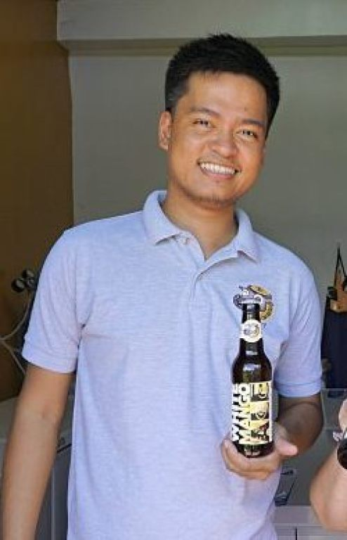Robert Palad, the founder and owner of Tarlac's Laughing Carabao Brewery